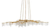 gold and crystal forest light chandelier currey and company, the alley exchange lighting