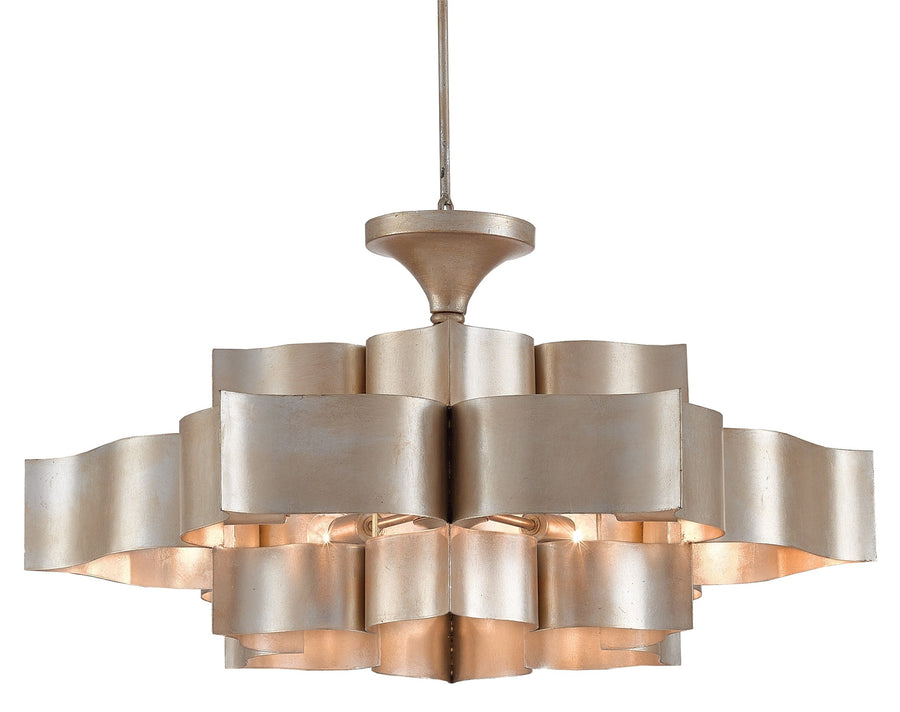 Grand Lotus Chandelier - Silver Leaf