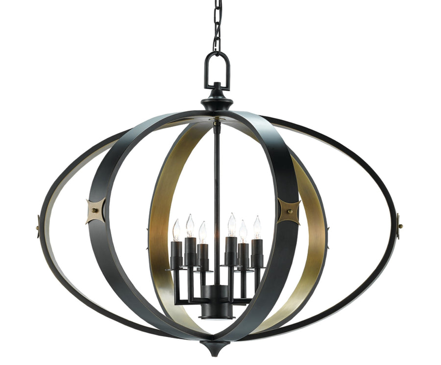 Huntsman Chandelier currey and company,modern black and gold orb chandelier for sale