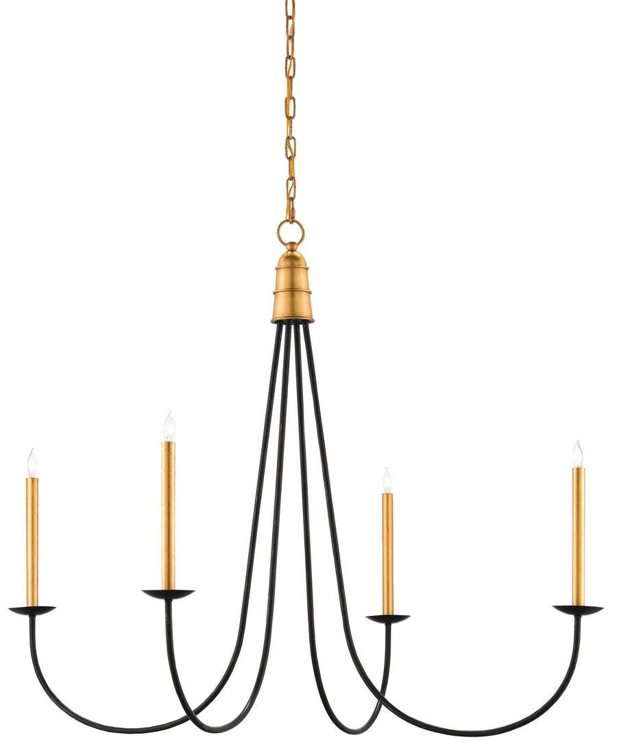 black iron and gold candlestick chandelier, traditional farmhouse chandelier lighting