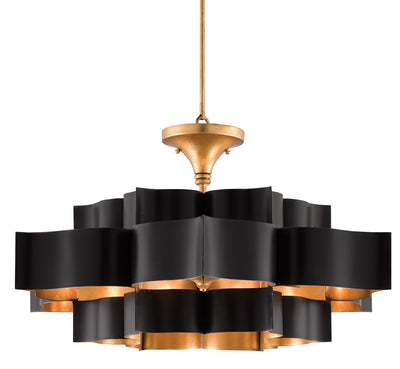 grand lotus chandelier black on sale, currey grand lotus chandelier on sale
