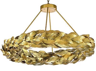 currey and company large gold chandeliers for sale, Apollo gold circular chandeliers for sale
