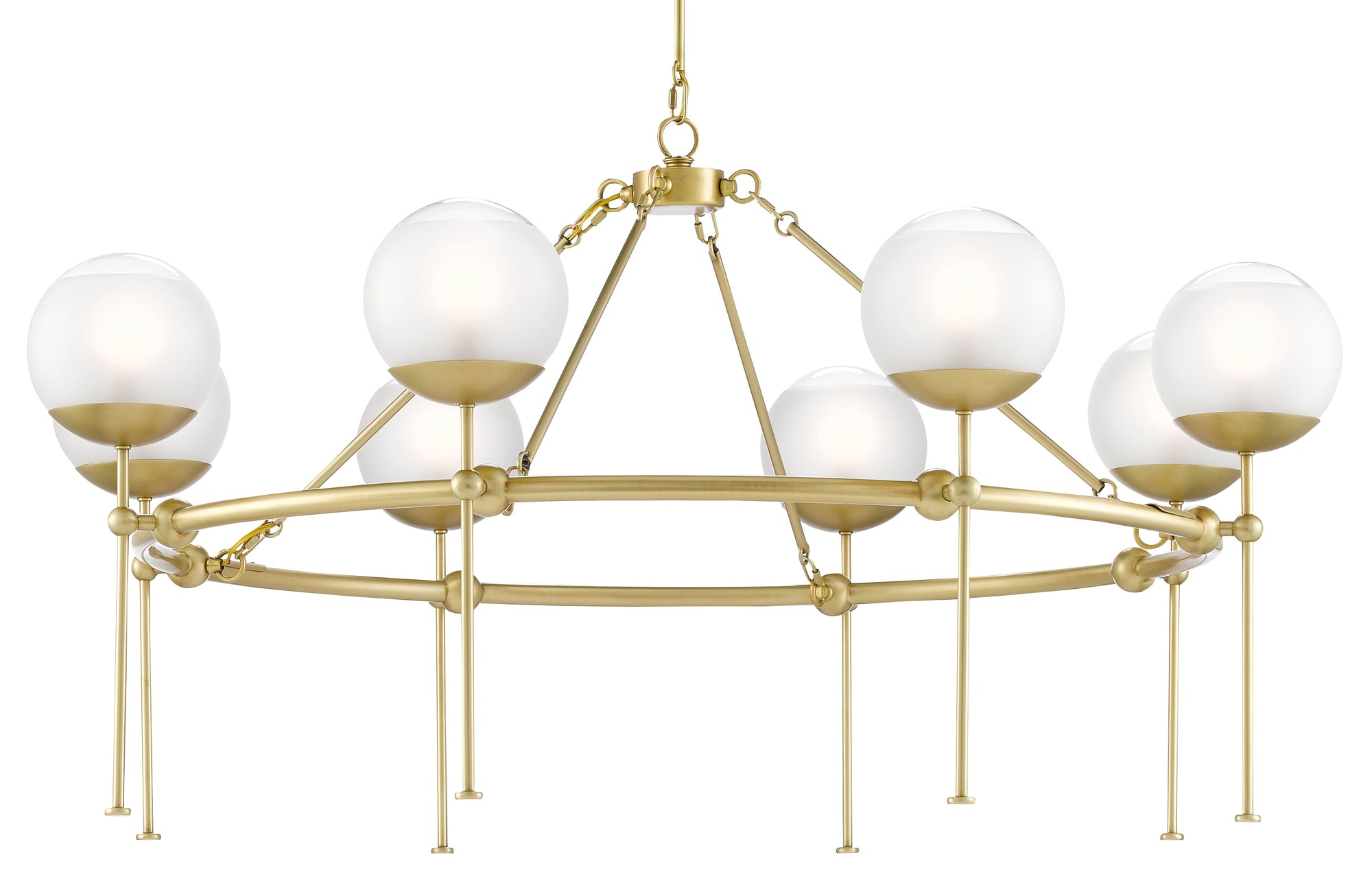 currey and company montview chanelier, brass globe chandelier