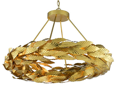 Currey and Company small gold chandeliers for sale, Apollo small gold circular chandeliers for sale