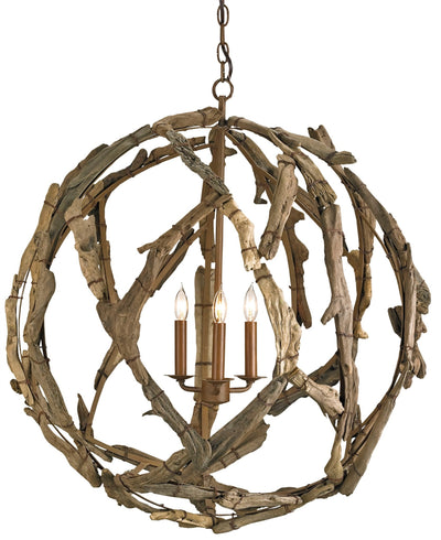 driftwood orb chandelier, rustic wood orb chandelier for sale