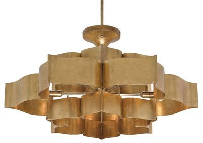 Grand Lotus Chandelier - Gold Leaf