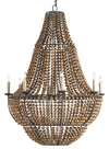 Falconwood Chandelier Currey and Company, Beeded hanging chandelier for sale