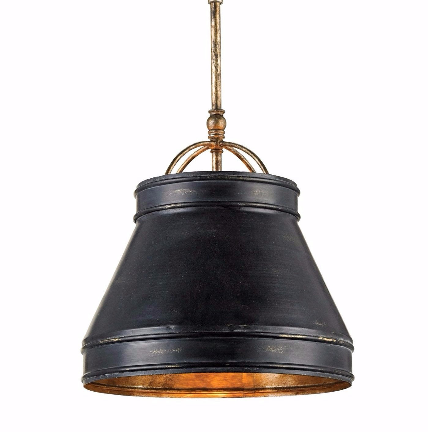 Lumley Pendant currey and company,black and copper hanging pendant light for sale