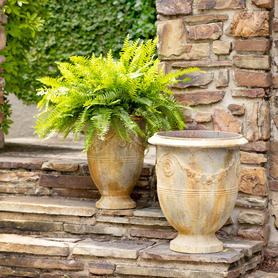 French Metal Planter Set