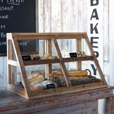 Wood and Glass Bakery Display cabinet, coffee house display cabinet for sale