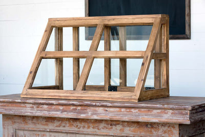 farmhouse style display cabinet for sale, vintage bakery display cabinet