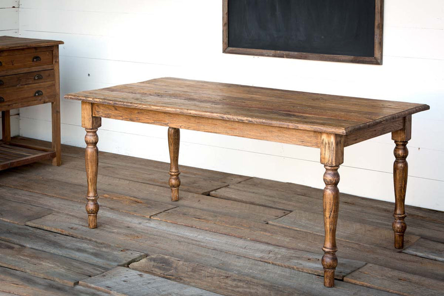 Rustic Elm Farmhouse Table