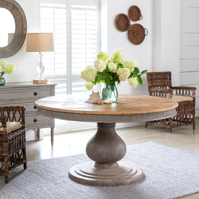 Park Hill Collection Vintage Foyer Table for sale, Round Farmhouse Foyer Tables