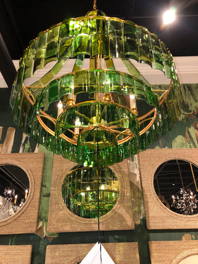 currey and company glass chandeliers, green glass modern chandelier