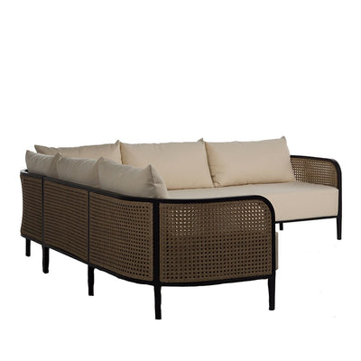 cane outdoor sofas for sale, cane outdoor sectional for sale