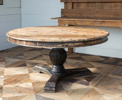 round wood farmhouse table for sale, rustic farmhouse table for sale