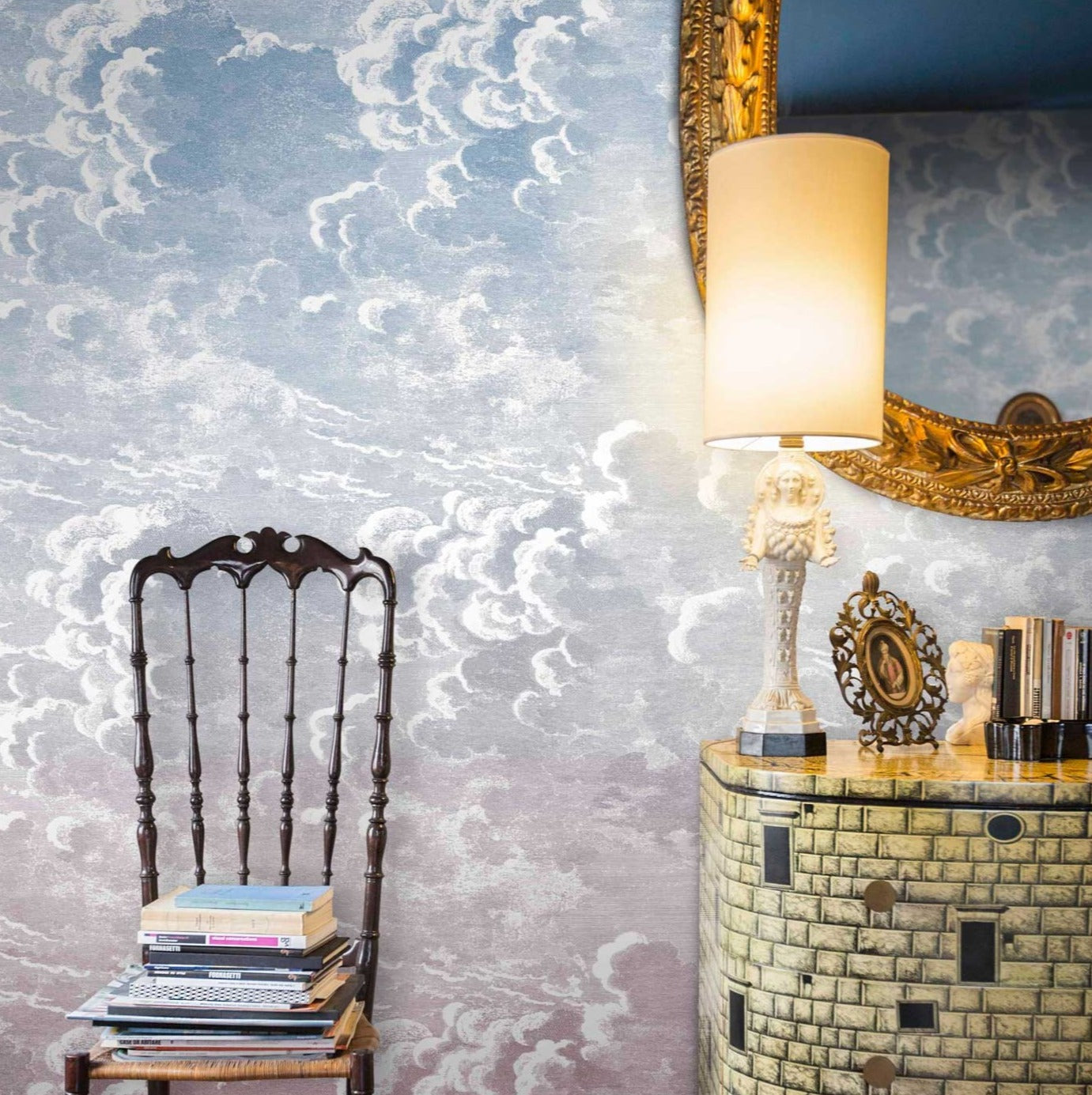 Nuvole al Tramonto Mural - Dusk /Pink - Cole & Son
