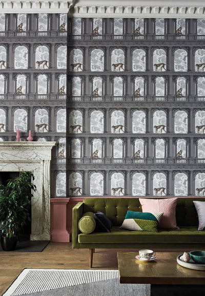 Fornasetti Senza Tempo - Procuratie con vista, Cole and Son Monkey Wallpaper for sale