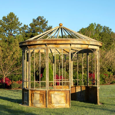 park hill collection metal gazebo for gardens, aged metal conservatory park hill collection