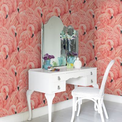 large pink flamingo wallpaper for walls, pink flamingo wallpaper for sale