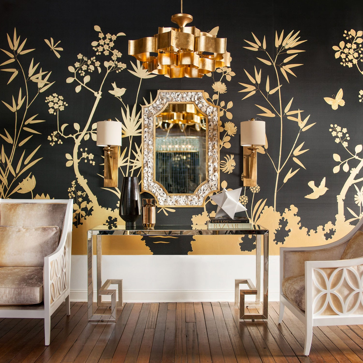 Currey And Company Lotus Chandelier: GRAND LOTUS CHANDELIER