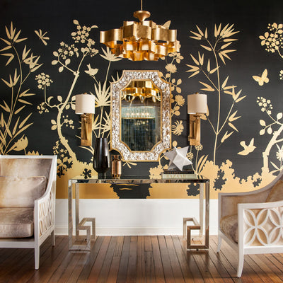 modern lighting for homes,gold chandeliers and gold wallpaper for sald