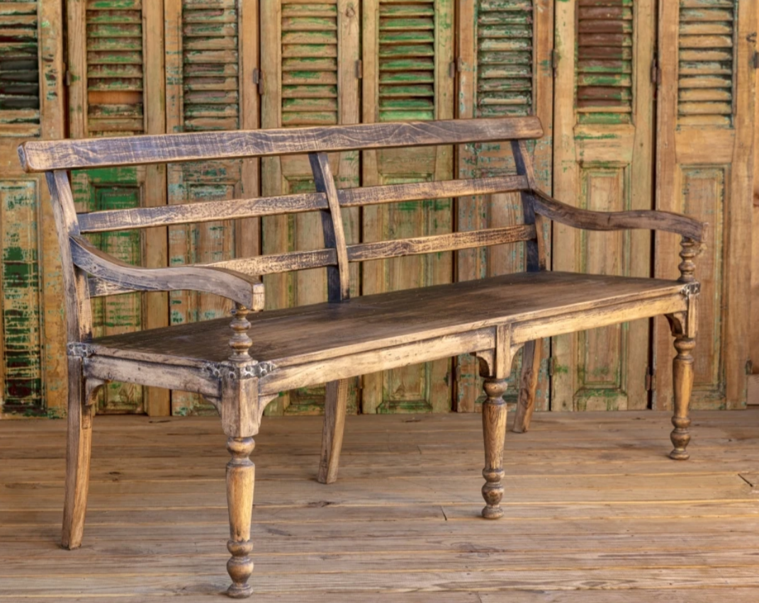 Vintage style wooden benches for sale, The Alley Exchange European Wooden Bench for sale