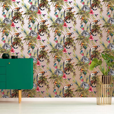Madagascar Wallpaper Metallic Gilver