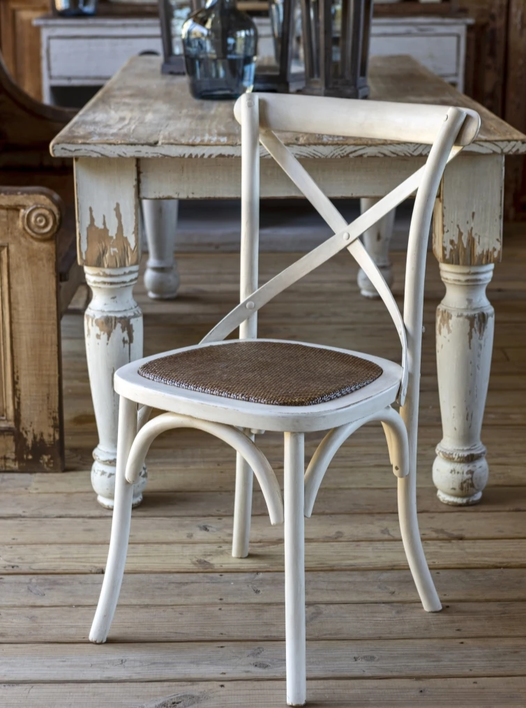 white cross back wooden dining chair for sale, Wooden Cross Back Chairs for sale Pottery Barn