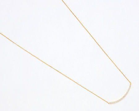Gold Pave Curve Necklace