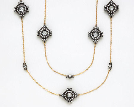 Gold Ornate Hematite Necklace