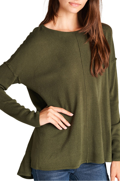 Crew Neck Olive Sweater