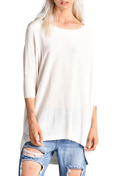 Dolman Sleeve Lightweight Sweater