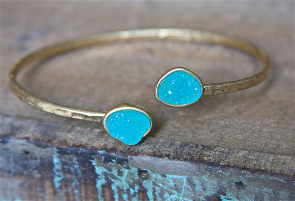 Druzy Cuff Bracelet (Other Colors Available)
