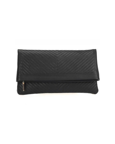Fold Over Quilted Clutch