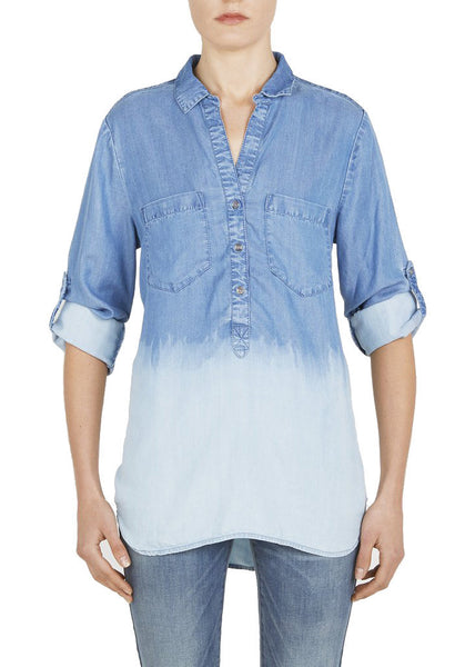 Ombre Chambray Top