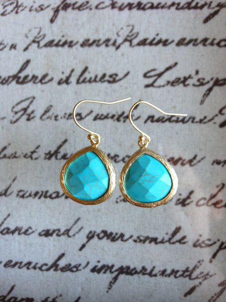 Teardrop Single Stone Earrings