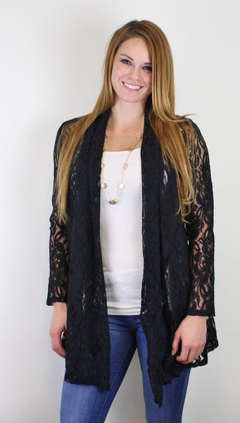 Floral Lace Duster Jacket