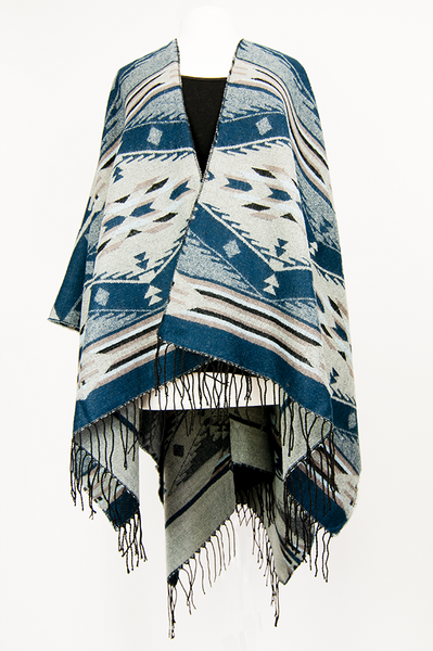 Western Ponchos with Fringe (Assorted Colors Available)
