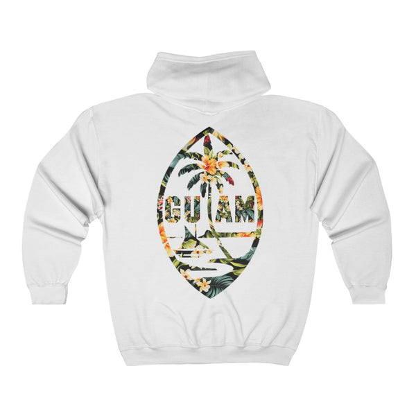 Guam Floral Unisex Heavy Blend™ Full Zip Hooded Sweatshirt