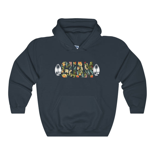 Guam Floral Hoodies Dark Colors.