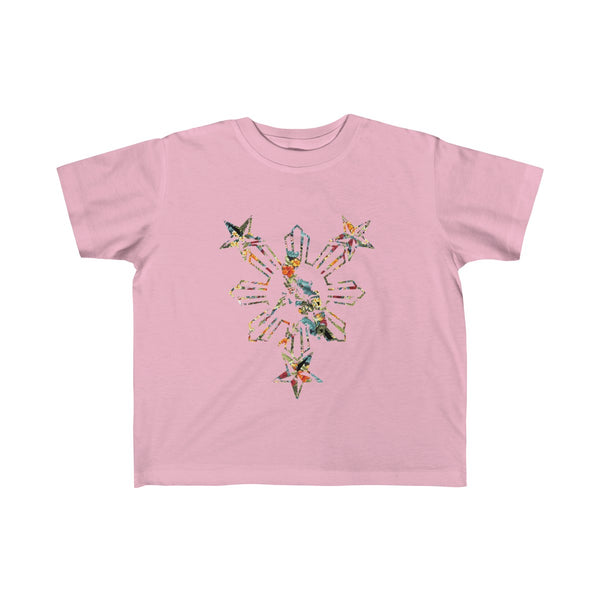 Philippines 3 Star and Sun Floral Tee Kids