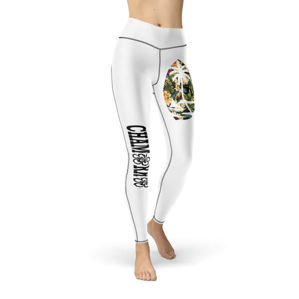 Floral Guam Cut & Sew Sport Leggings