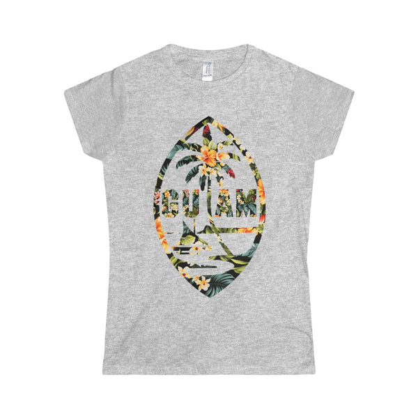 Guam Floral Womens Tee