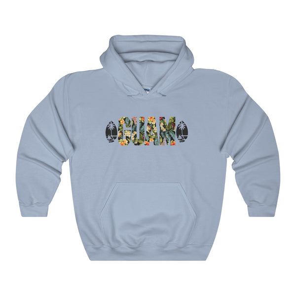 Guam Floral Hoodies Light Colors