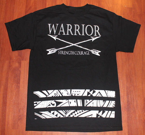 A WARRIOR TRIBAL BAR TEE
