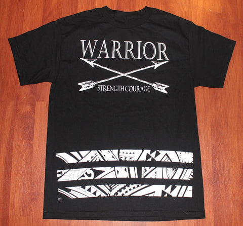 A A WARRIOR TRIBAL BAR TEE