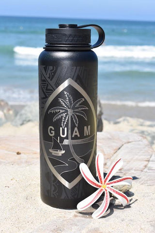 Guam Tribal Flask  Free Paracord Handle from 1/26-1/29