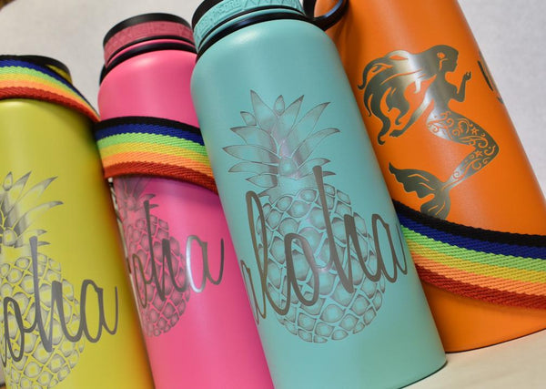 ALOHA PINEAPPLE FLASKS