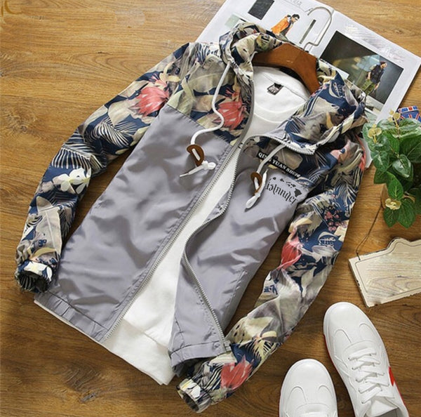 Hawaii Islander Palm Floral Jacket